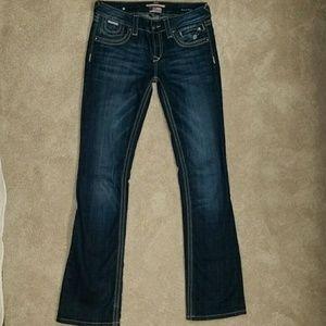 EUC Express ReRock jeans 4R, Bootcut, low-rise